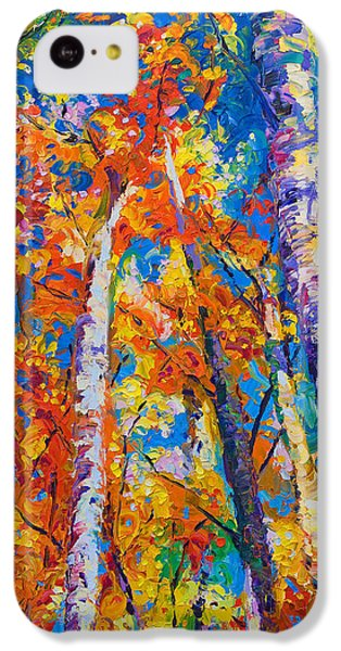 Impressionism iPhone 5c Case - Redemption - Fall Birch And Aspen by Talya Johnson