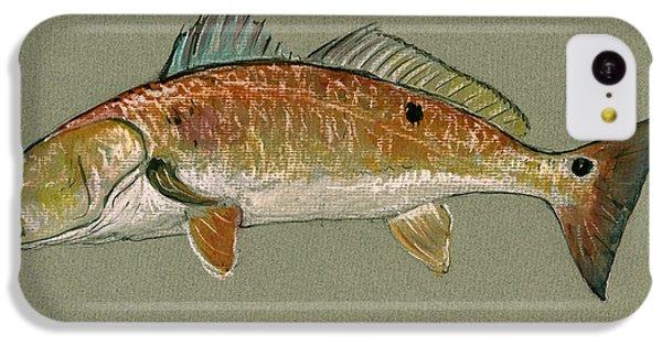 Redfish Watercolor Painting IPhone 5c Case by Juan  Bosco