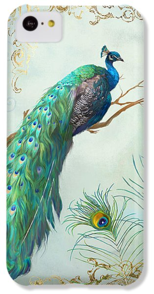 Regal Peacock 1 On Tree Branch W Feathers Gold Leaf IPhone 5c Case