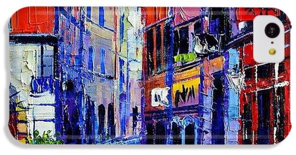 Architecture iPhone 5c Case - rendez-vous In Vieux Lyon 25x25 Cm by Mona Edulesco