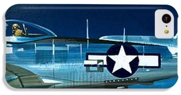 Airplane iPhone 5c Case - Republic P-47n Thunderbolt by Wilf Hardy