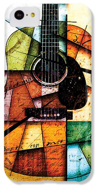 Guitar iPhone 5c Case - Resonancia En Colores by Gary Bodnar