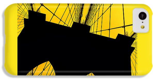 Brooklyn Bridge iPhone 5c Case - Retro Arches by Az Jackson