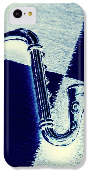 Trumpet iPhone 5c Case - Retro Blues by Jorgo Photography - Wall Art Gallery