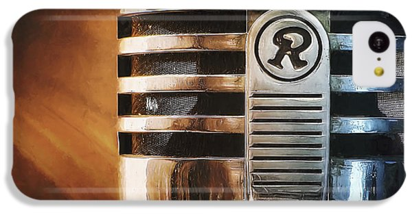 Jazz iPhone 5c Case - Retro Microphone by Scott Norris