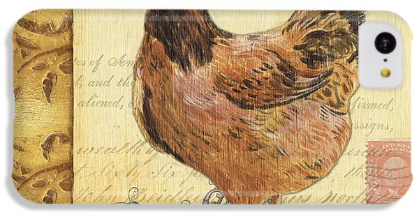 Rural Scenes iPhone 5c Case - Retro Rooster 1 by Debbie DeWitt