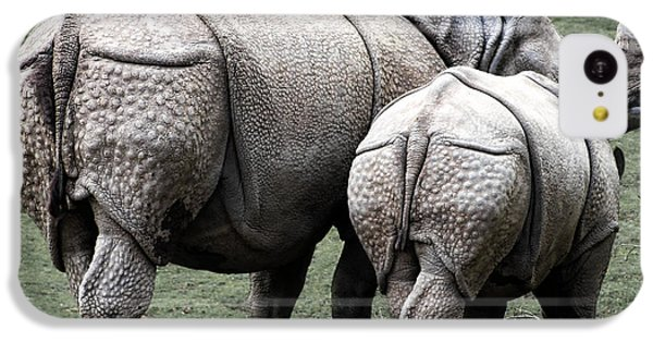 Rhinoceros Mother And Calf In Wild IPhone 5c Case