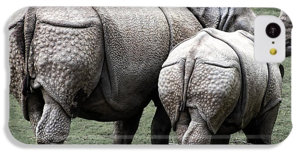 Rhinoceros Mother And Calf In Wild IPhone 5c Case by Daniel Hagerman