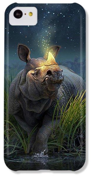 Unicorn iPhone 5c Case - Rhinoceros Unicornis by Jerry LoFaro