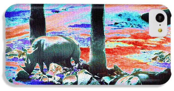 Rhinos Having A Picnic IPhone 5c Case