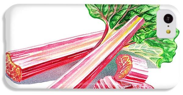 IPhone 5c Case featuring the painting Rhubarb Stalks by Irina Sztukowski