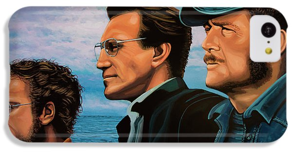 Sharks iPhone 5c Case - Jaws With Richard Dreyfuss, Roy Scheider And Robert Shaw by Paul Meijering