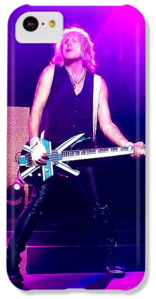 Rick Savage Of Def Leppard IPhone 5c Case by David Patterson
