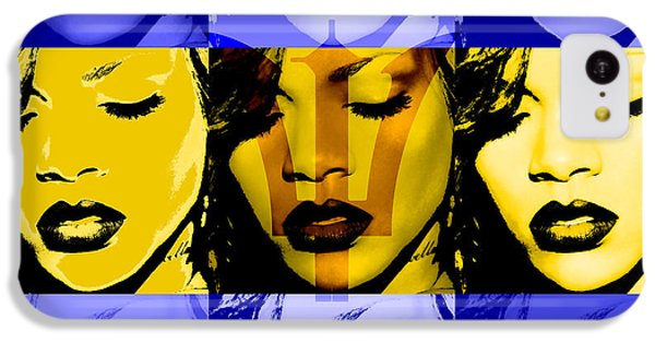 Rihanna Warhol Barbados By Gbs IPhone 5c Case by Anibal Diaz