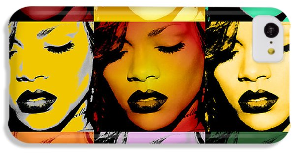Rihanna Warhol By Gbs IPhone 5c Case by Anibal Diaz