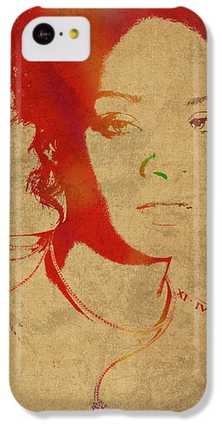Rihanna Watercolor Portrait IPhone 5c Case by Design Turnpike