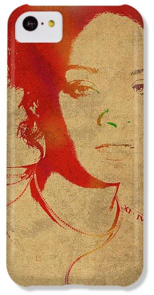 Rihanna Watercolor Portrait IPhone 5c Case by Design Turnpike