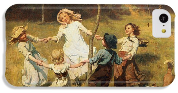 Rural Scenes iPhone 5c Case - Ring Of Roses by Frederick Morgan