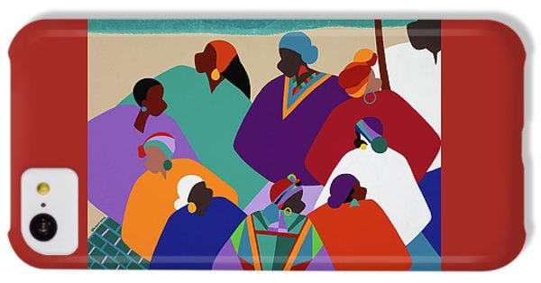 iPhone 5c Case - Ring Shout Gullah Islands by Synthia SAINT JAMES
