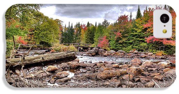 IPhone 5c Case featuring the photograph River Debris At Indian Rapids by David Patterson