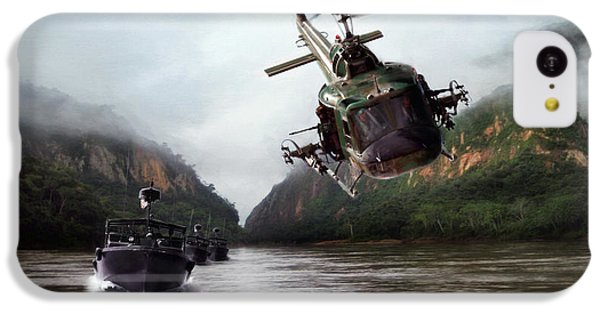 Helicopter iPhone 5c Case - River Patrol by Peter Chilelli