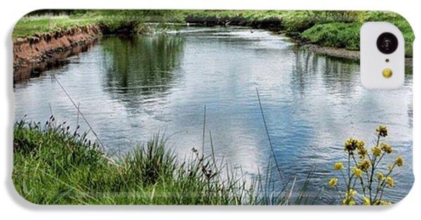Sky iPhone 5c Case - River Tame, Rspb Middleton, North by John Edwards