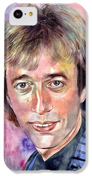 Robin iPhone 5c Case - Robin Gibb Portrait Watercolor by Suzann's Art