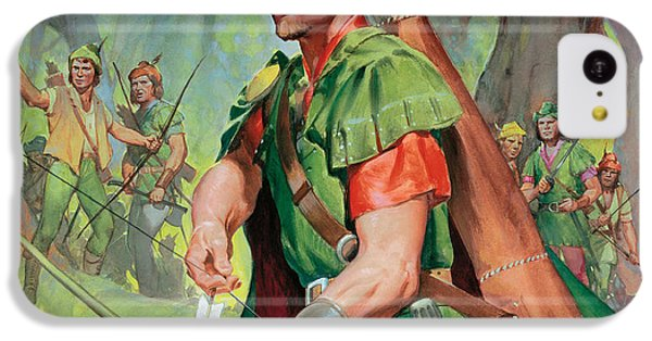 Robin iPhone 5c Case - Robin Hood by James Edwin McConnell