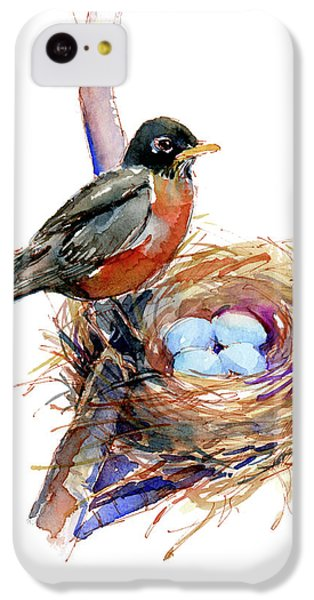 Robin With Nest IPhone 5c Case