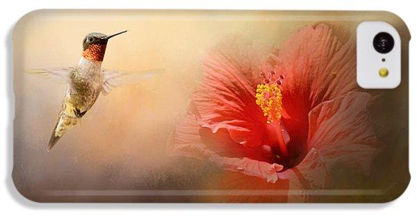 Humming Bird iPhone 5c Case - Romancing The Hibiscus by Jai Johnson