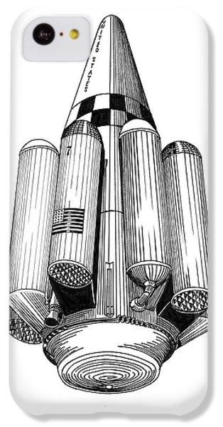 Rombus Heavey Lift Reusable Rocket IPhone 5c Case by Jack Pumphrey