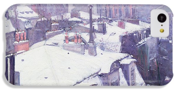 Paris iPhone 5c Case - Roofs Under Snow by Gustave Caillebotte