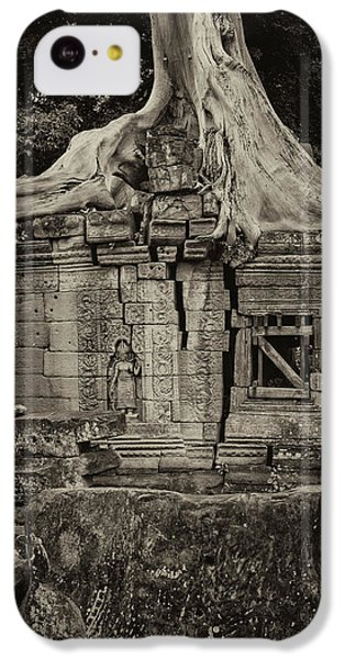 IPhone 5c Case featuring the photograph Roots In Ruins 5, Ta Prohm, 2014 by Hitendra SINKAR