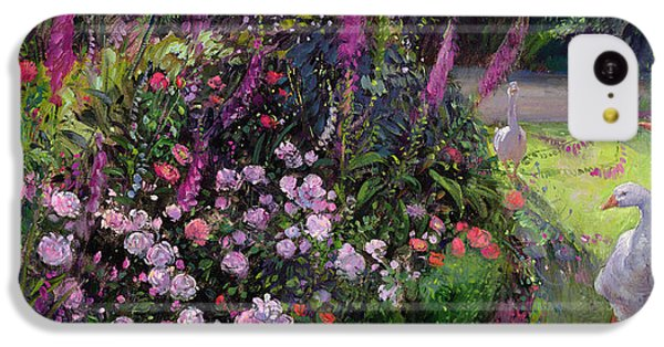 Rose Bed And Geese IPhone 5c Case by Timothy Easton