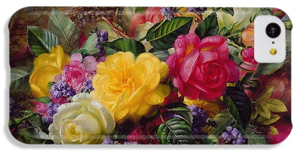 Roses By A Pond On A Grassy Bank  IPhone 5c Case by Albert Williams