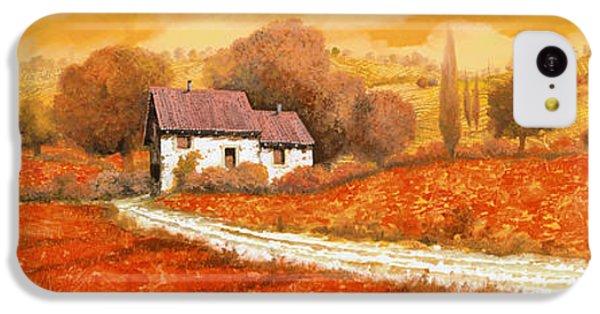 Landscape iPhone 5c Case - Rosso Papavero by Guido Borelli