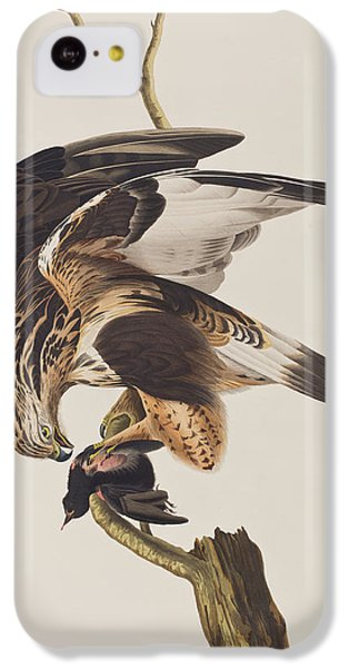 Rough Legged Falcon IPhone 5c Case by John James Audubon