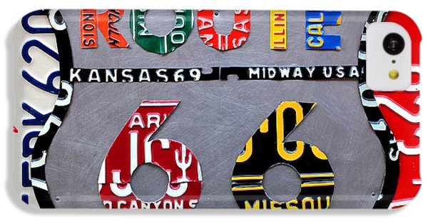 Route 66 Highway Road Sign License Plate Art IPhone 5c Case by Design Turnpike