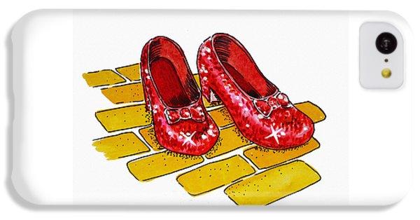Ruby Slippers The Wizard Of Oz  IPhone 5c Case by Irina Sztukowski