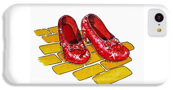 Wizard iPhone 5c Case - Ruby Slippers The Wizard Of Oz  by Irina Sztukowski