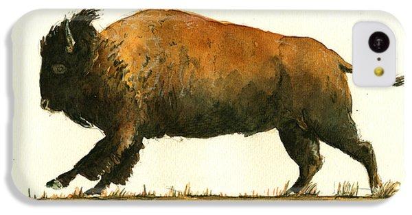 Running American Buffalo IPhone 5c Case by Juan  Bosco