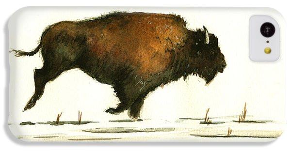 Running Buffalo IPhone 5c Case by Juan  Bosco