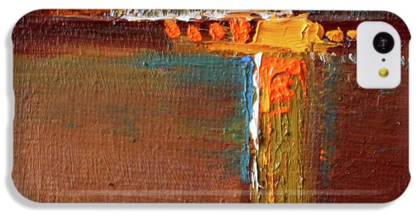 Rust Abstract Painting IPhone 5c Case by Nancy Merkle