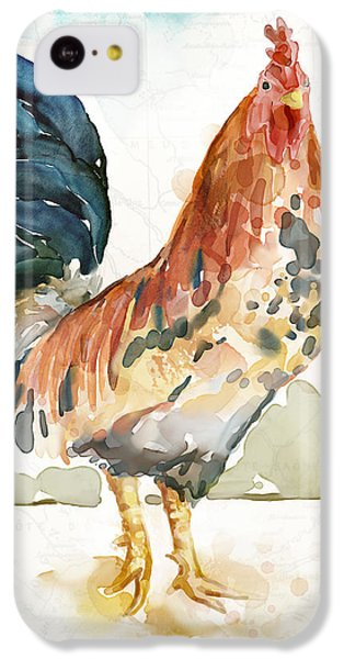 Rooster iPhone 5c Case - Rust Rooster by Mauro DeVereaux
