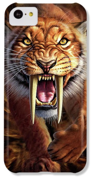 Tiger iPhone 5c Case - Sabertooth by Jerry LoFaro