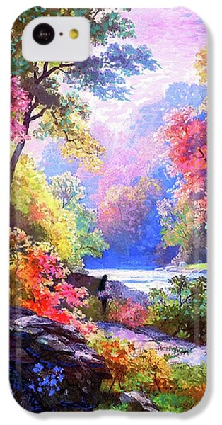 Figurative iPhone 5c Case - Sacred Landscape Meditation by Jane Small