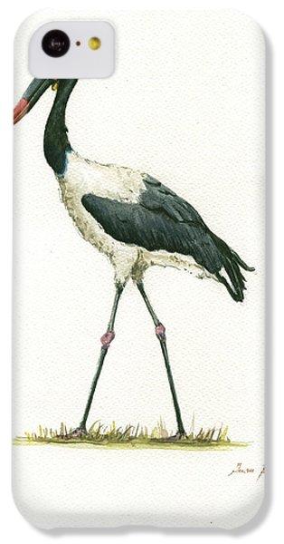 Saddle Billed Stork IPhone 5c Case