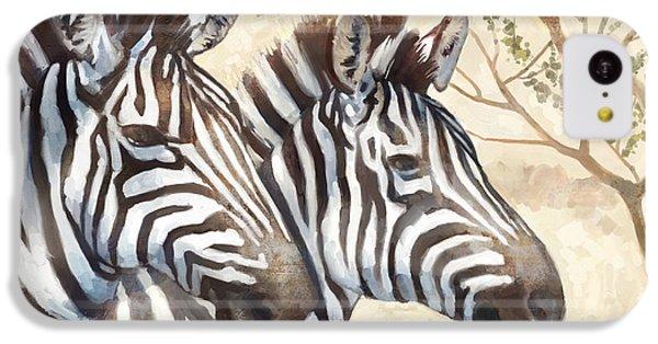 Zebra iPhone 5c Case - Safari Sunrise by Mauro DeVereaux
