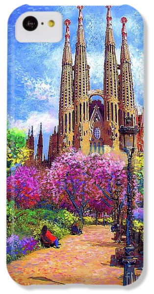 Sagrada Familia And Park,barcelona IPhone 5c Case by Jane Small