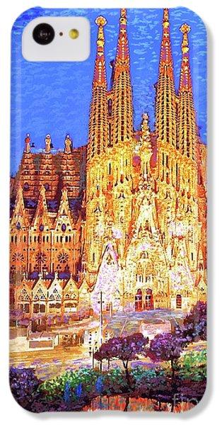 Sagrada Familia At Night IPhone 5c Case by Jane Small